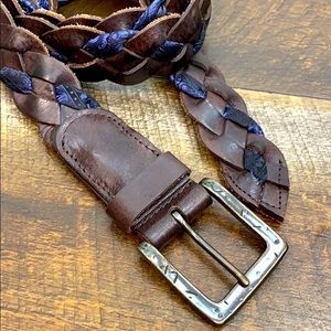 Robert Graham Amos braided silk leather belt